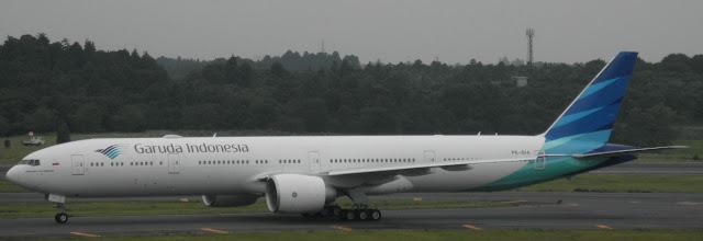 Foto Penampakan Pesawat Garuda Indonesia Terbesar
