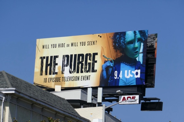 Purge series premiere billboard