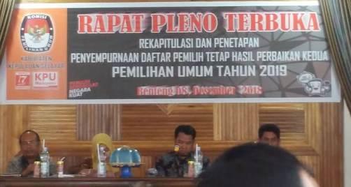 KPU Selayar Tetapkan DPT, Pemilu 2019 Hasil Perbaikan Kedua