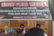 KPU Selayar Tetapkan DPT Pemilu 2019 Hasil Perbaikan Kedua