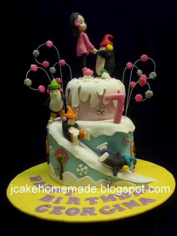Jcakehomemade Ice Skating Birthday Cake
