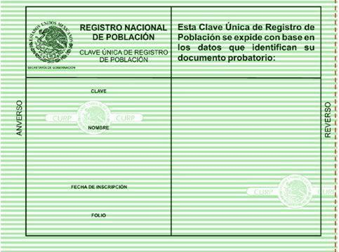 Sacar CURP paso a paso en linea gratis 2016 2017 2018 verde original por Registro Civiles gratis por Internet
