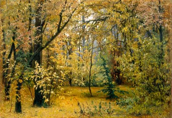 Fall woods Iwan Iwanowitsch Schischkin