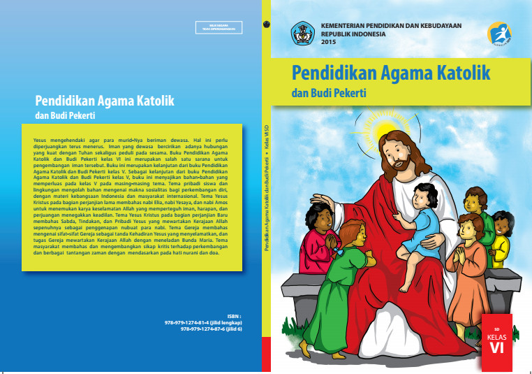 Download Gratis Buku Siswa Pendidikan Agama Katolik dan Budi Pekerti Kelas 6 SD Kurikulum 2013 Format PDF