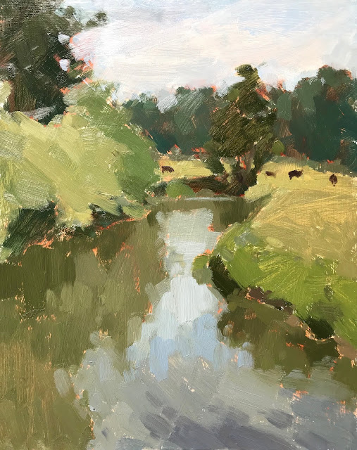 #343 'The River Wey, Tilford' 24x30cm