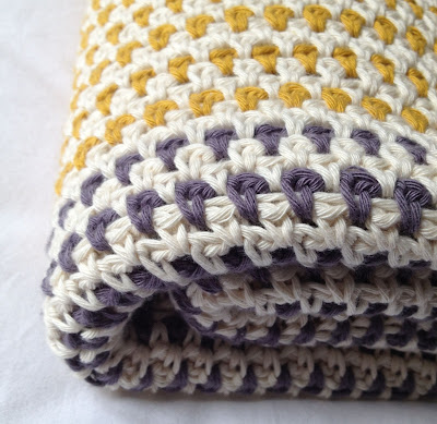 plaid linen stitch point granité en coton PARIS Drops Oeko-Tex®