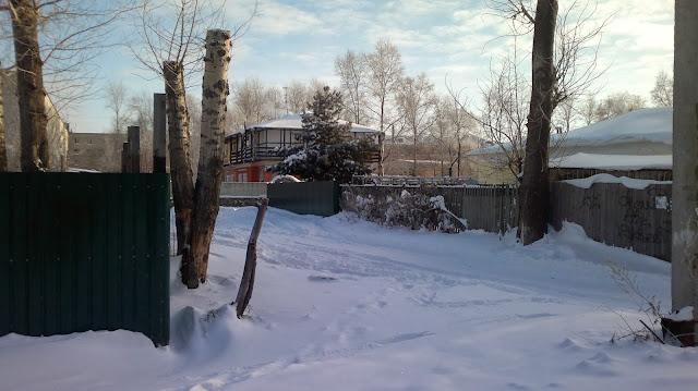 Зима в частном секторе Комсомольска на Амуре