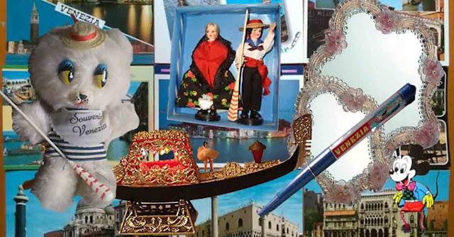composizione di souvenir vintage di venezia