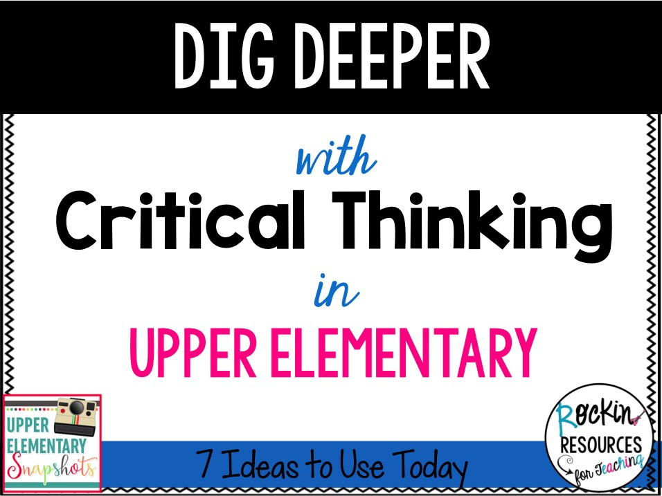 articles on critical thinking in elementary schools