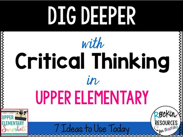 dip deeper in upper elementary