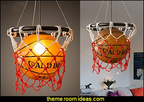 Basketball Light  basketball bedroom decor ideas - Basketball Decor - basketball wall murals - basketball bedding - basketball wall decal stickers - basketball themed bedrooms - basketball bedroom furniture - basketball wall decorations -  basketball hanging light