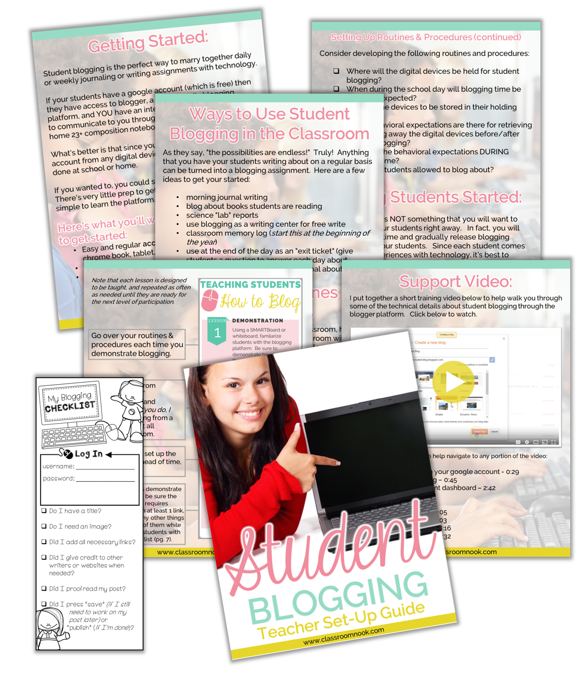 Download this FREE teacher guide to using student blogging in the classroom