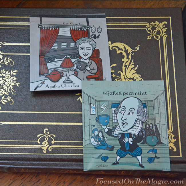 Agatha Chris Tea and the ShakeSpearmint teas from the Author Series Collection by Collect Teables