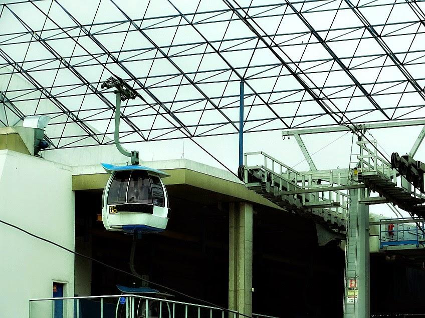 Teleférico do Parque Unipraias, na Estação Barra Sul, em Balneário Camboriú