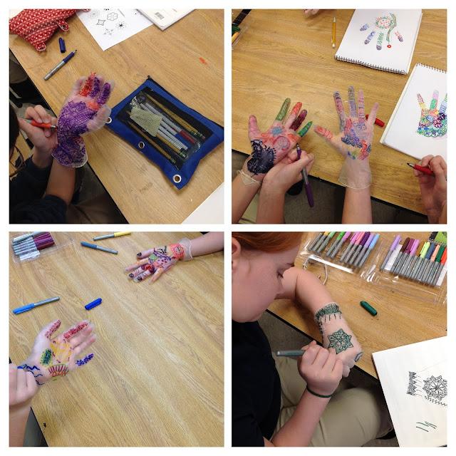 Mehndi Hand Middle School Art Lesson