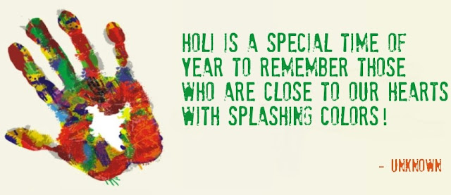Happy Holi Quotes, Wishes, Sms in English Language