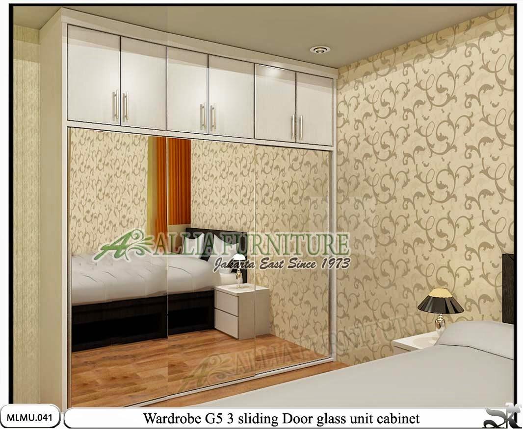 Lemari minimalis sliding cabinet unit G5