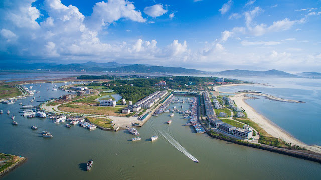 Dự án Tuần Châu Marina góc nhìn tổng thể từ trên cao