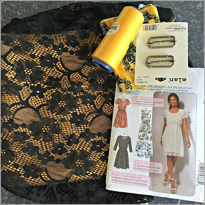 April 4, 2019 Purchasing pattern and fabric for our youngest granddaughter's first semi formal