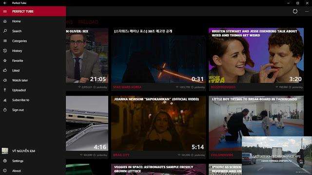 Perfect Tube - أفضل تطبيقات يوتيوب في ويندوز 10