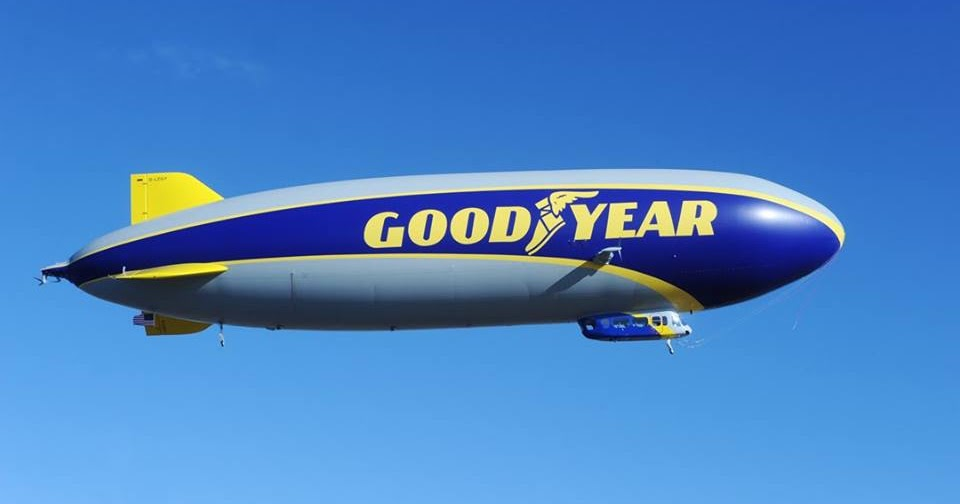 """Goodyear Large Inflatable Blimp 33/"""""""