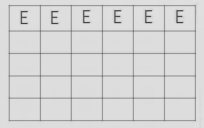 Alfabeto Pontilhado Letra E