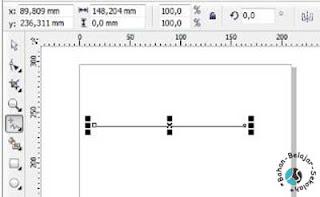 cara membuat garis lurus dengan freehand tool