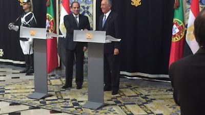 السيسي ونظيره البرتغالي