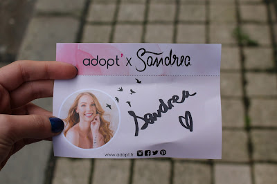 Autographe de la youtubeuse Sandrea26France à l'occasion de son meetup à Bordeaux