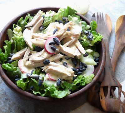 Chicken & Haskap Salad