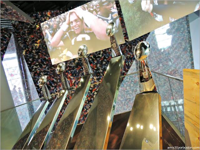 Cinco Trofeos Vince Lombardi de los New England Patriots