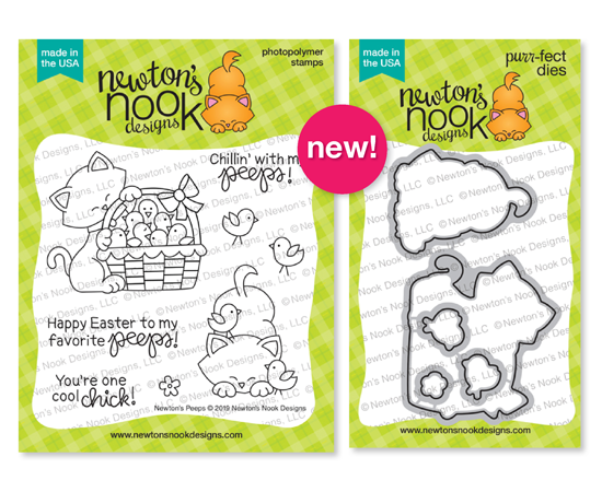 Newton's Peeps | Cat and Chicks Easter Stamp Set by Newton's Nook Designs #newtonsnook