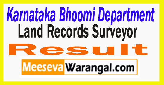 Karnataka Land Record Surveyor Result 2017