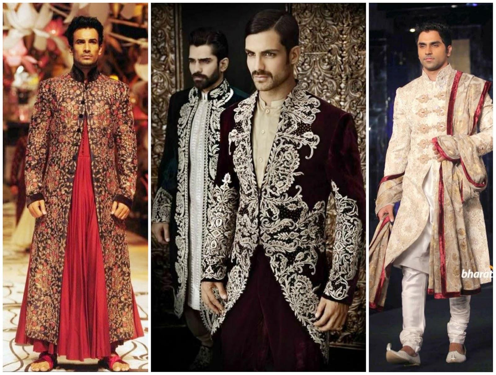 embroidered sherwani, heavy wedding work sherwani