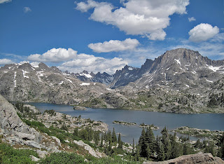 Island Lake in the Wind River Range