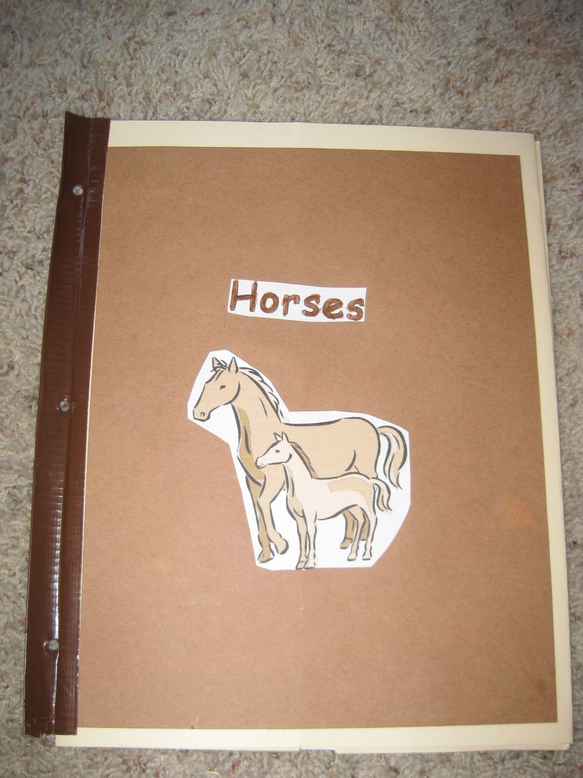 Thy Word Horses Lapbook