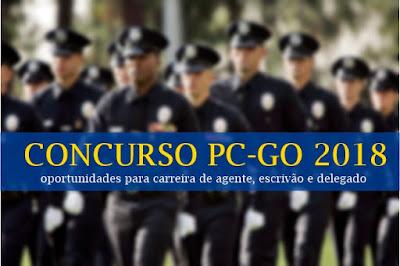 novo concurso da PC-GO - Polícia Civil de Goiás 2018
