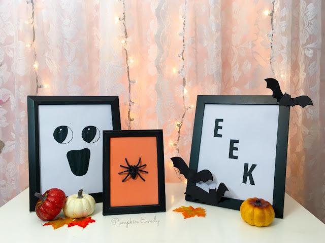 3 Easy DIY Halloween Frame Art Ideas