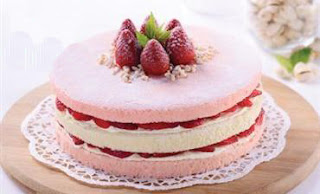 Resep Membuat Strawberry Layer Steam Cake