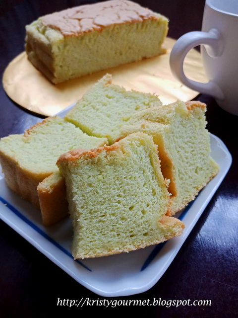 Air Fryer Pandan Sponge Cake 气炸锅班兰海绵蛋糕