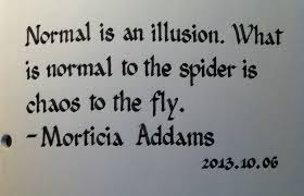 What is normal? Normal is an illusion.
