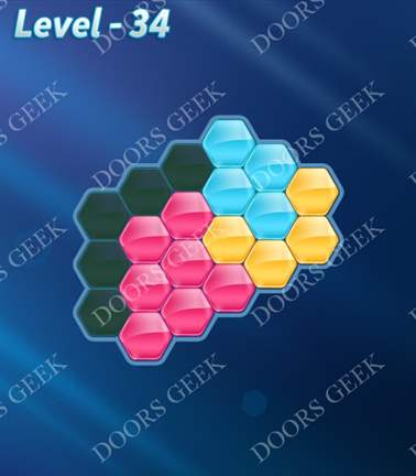 Block! Hexa Puzzle [Rainbow A] Level 34 Solution, Cheats, Walkthrough for android, iphone, ipad, ipod