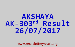 AKSHAYA Lottery AK 303 Results 26-7-2017
