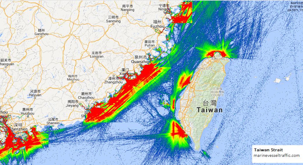 Taiwan Strait Map TAIWAN STRAIT SHIP TRAFFIC | Ship Traffic
