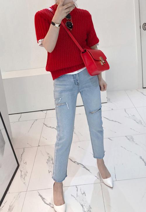 Chunky Knit T-Shirt