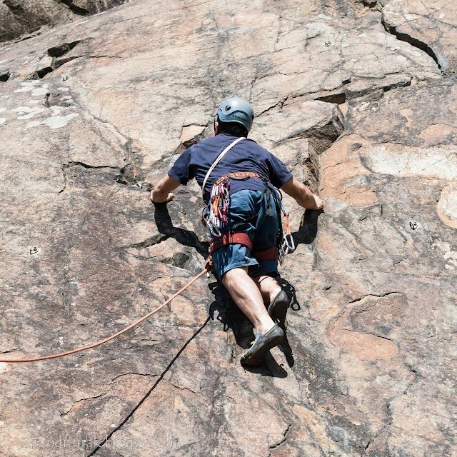 Sziklamászás a lippai sziklán