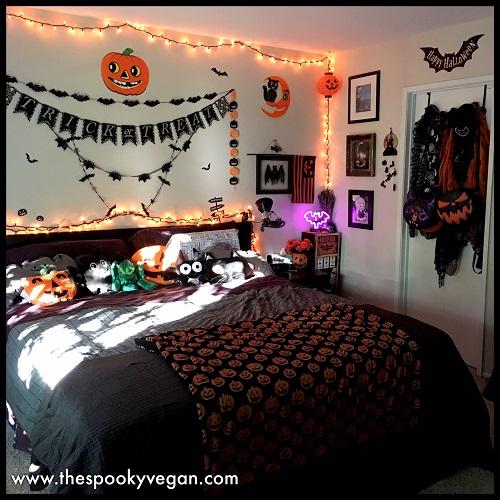 The Spooky Vegan Spooky Halloween Home Tour My Boo Tiful Bedroom