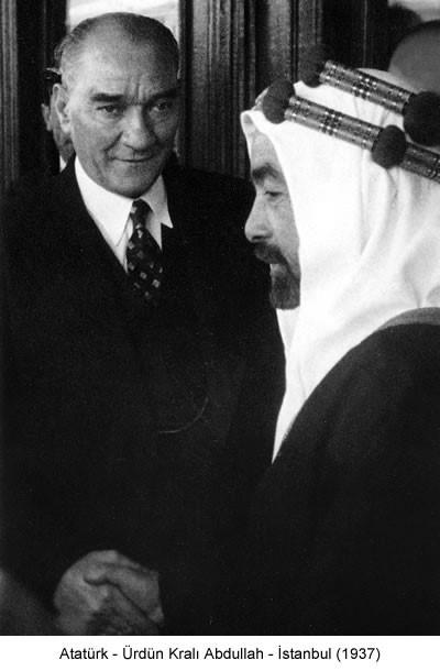 Atatürk Ürdün Kralı Abdullah 1937 Fotoğraf