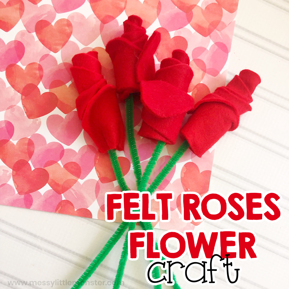 felt roses flower craft