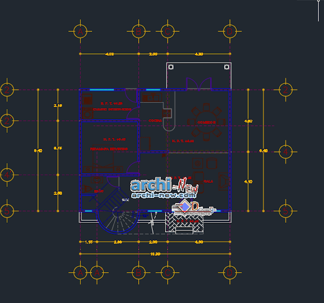 House two levels in AutoCAD